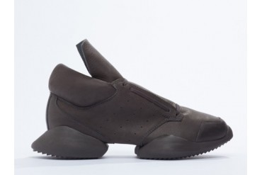 Adidas Originals X Rick Owens Runner in Dark Dust Leather size 10.0