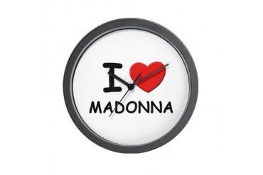 I love Madonna Love Wall Clock by CafePress