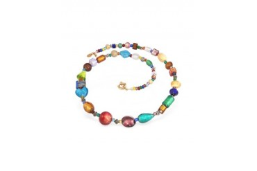 Fanny - Multicolor Murano Glass Bead Necklace