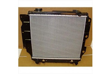 Omix-Ada Replacement 2 Core Radiator for 4 or 6 Cylinder Engine with Automatic Transmission 17101.13 Radiator