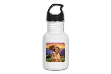 Dachshund Meadow Dachshund Kid's Water Bottle by CafePress