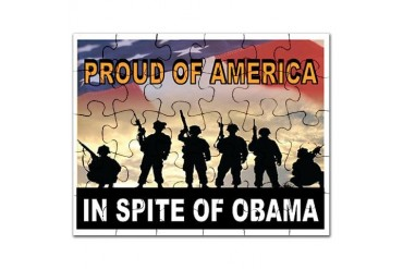 AMERICAN PRIDE Military Puzzle by CafePress