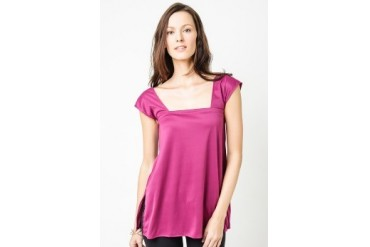 Purple Sleeveless Blouse