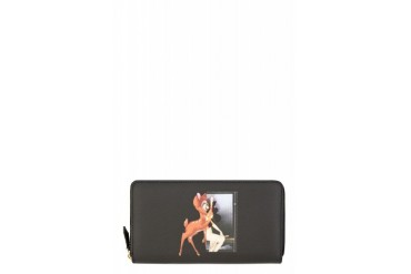 Givenchy Black Bambi Graphic Wallet