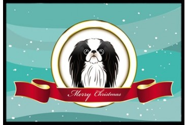 Japanese Chin Merry Christmas Indoor or Outdoor Mat 18x27