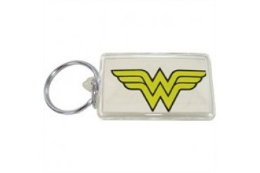 DC Comics Wonder Woman WW Logo on White Lucite Keychain