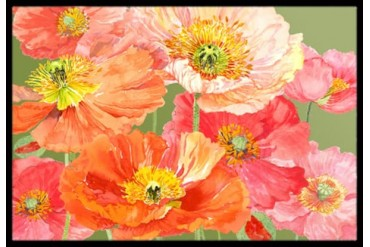 Poppies by Anne Searle Indoor or Outdoor Mat 18x27