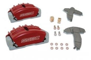 Stainless  Steel Brakes Quick Change Tri-Power; 3-Piston Calipers A189-2BK Disc Brake Caliper Upgrade