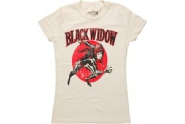 Marvel Comics Avengers Black Widow Run Vintage Baby Doll Tee