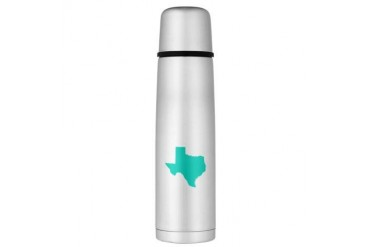 Texas Outline Turquoise Large Thermos Bottle Texas Large Thermosreg; Bottle by CafePress