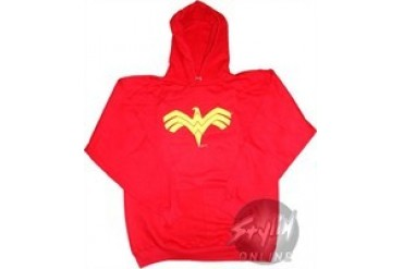 DC Comics Wonder Woman Logo Red Hooded Sweatshirt