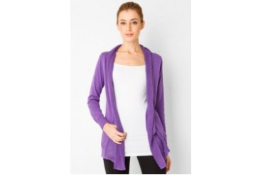 Noir Sur Blanc Ladies Long Cardigan