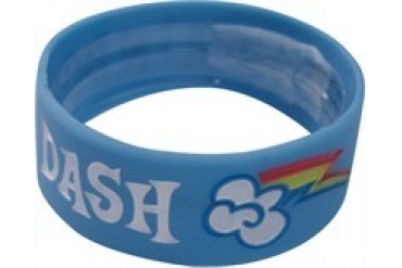 My Little Pony Rainbow Dash Name Cutie Mark Rubber Bracelet Wristband