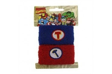 Marvel Comics Thor T Hammer Blue Red Wristband Set