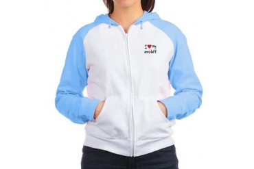 I LOVE MY Amstaff Pets Women's Raglan Hoodie by CafePress