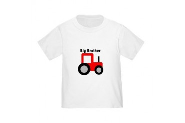 Big Brother Red Tractor Toddler T-Shirt