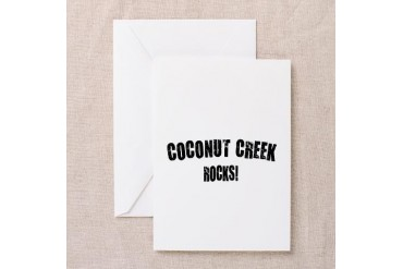 Coconut Creek Rocks Florida Greeting Card by CafePress