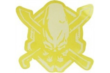 Halo Legendary White on Clear Sticker