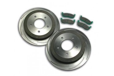 Stainless  Steel Brakes Turbo Slotted Rotors A2360010 Replacement Brake Pad and Rotor Kit