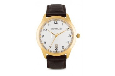 La Manufacture Classic Gold MX3306BV Watch with Brown Leather Strap