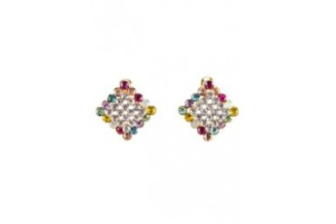 Black Queen Square Earring