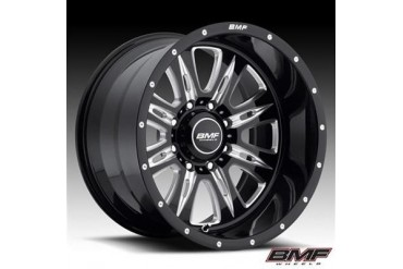 BMF Wheels REHAB, 20x9 with 8 on 180 Bolt Pattern - Death Metal Black and Machined 464B-090818000 BMF Wheels