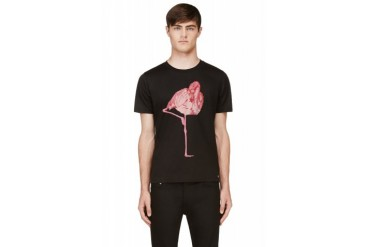 Paul Smith Black Crewneck Hip Flamingo T shirt