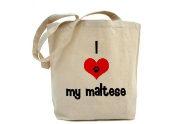 I heart My Maltese Pets Tote Bag by CafePress