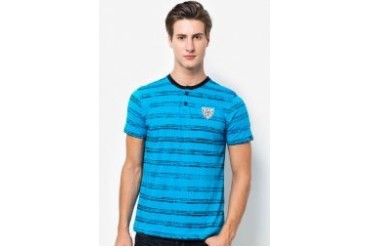 Hotto Windo @ Tropicana Life Stripes Washed Cotton T-Shirt