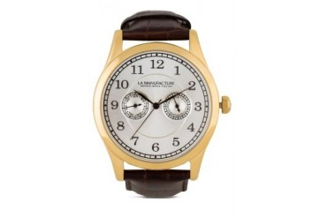 La Manufacture Classic Gold MX3302AV Watch with Brown Leather Strap