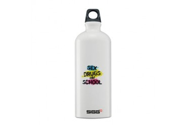 Sex Drugs And School Vintage Sigg Water Bottle 0.6L by CafePress