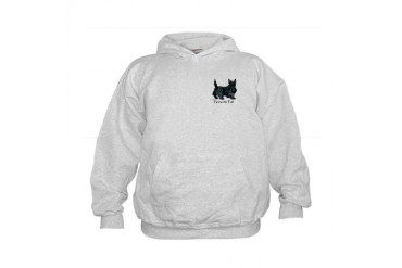 Scottish Terrier Attitude Pets Kids Hoodie by CafePress