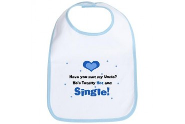 My Hot Single Uncle Blue Baby Bib