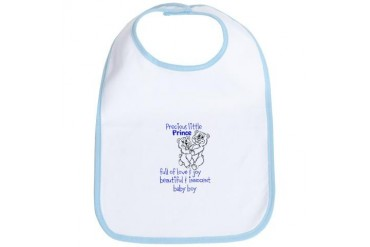 Precious little prince Love Bib by CafePress