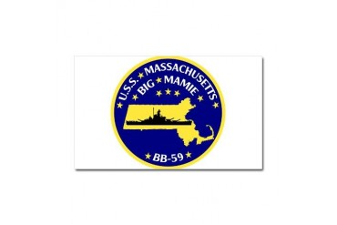USS Massachusetts BB 62 Patch.png Car Magnet 20 x Military Car Magnet 20 x 12 by CafePress
