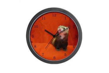 Twister 4 Ferret Wall Clock by CafePress