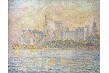 Avignon Morning Poster Print by Paul Signac (24 x 30)