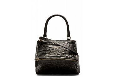 Givenchy Black Leather Old Pepe Small Pandora Bag