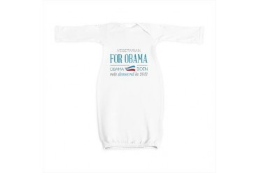 Vegetarian For Obama Politics Baby Gown by CafePress