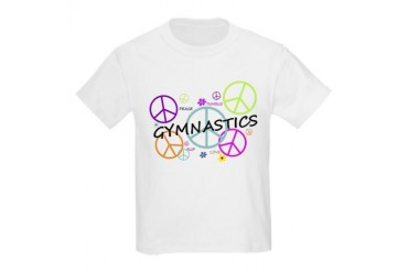 Colored Peace Signs Gymnastics Kids Light T-Shirt