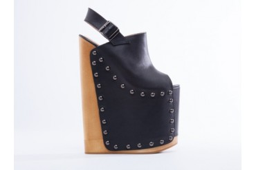 Ego and Greed Jenny in Black Leather Wood size 5.0