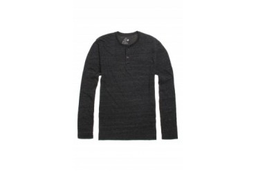 Mens On The Byas Long Sleeve Shirts - On The Byas Triblend Henley T-Shirt