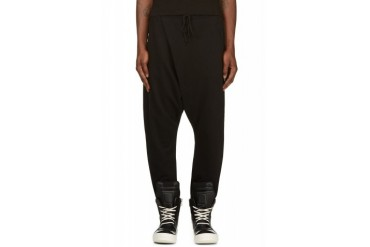 D.gnak By Kang.d Black Jersey Harem Pants