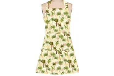 Elegant Tropical Palm Trees Girlie Kitchen Cooking Chef Apron Kay Dee