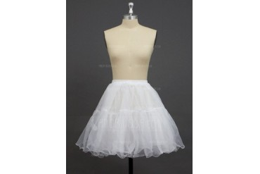 Women/Girls Organza/Polyester Short-length 2 Tiers Petticoats (037033989)