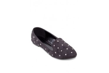 Sidewalk Pointed Toe Loafers with Diamonds