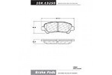 2008-2012 Toyota Highlander Brake Pad Set Centric Toyota Brake Pad Set 105.13250