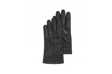 Black Leather Men's Gloves w/Cashmere Lining