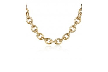 Gold Plated Chain Toggle Necklace