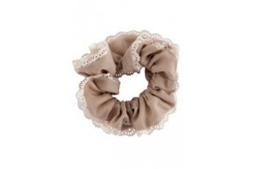 Scrunchie With Lace Trimming